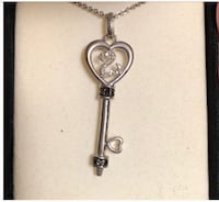 Open Heart Key Necklace Black/White Diamond Chattanooga, 37415