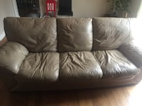 Beautiful Natuzzi leather sofas plus Ottoman Beaconsfield