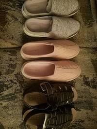 pair of white slip on shoes
