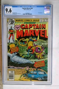 Captain Marvel 60 (CGC 9.6) NM+ (cert#  [TL_HIDDEN] ) Upper Marlboro, 20774