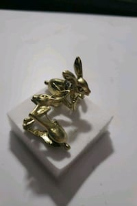 gold plated bunny  earrings