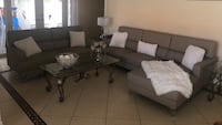City Furniture Sofa with Chaise and Love Seat
