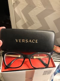 Black framed Versace eyeglasses with case El Paso, 79936
