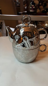 Silver Teapot and Cup  Welland