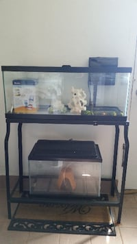 black framed clear glass fish tank Derwood