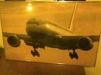 Boeing 777 on Landing 24 x 30 in aluminum and glas Bremerton, 98337