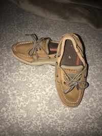 pair of brown Sperry boat shoes Plantation, 33322