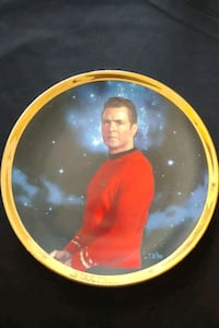 Star Trek Scotty collector plate 1991 25th anniversary Mississauga, L4Z 1W3