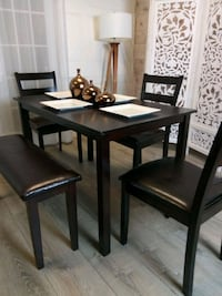 New Dining Room Tables Kitchen Table 3 Chairs Bench