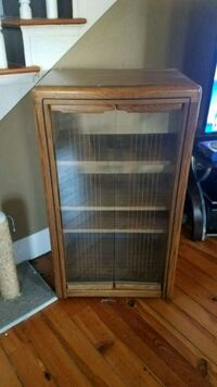 brown wooden framed glass display cabinet Winchester, 22602