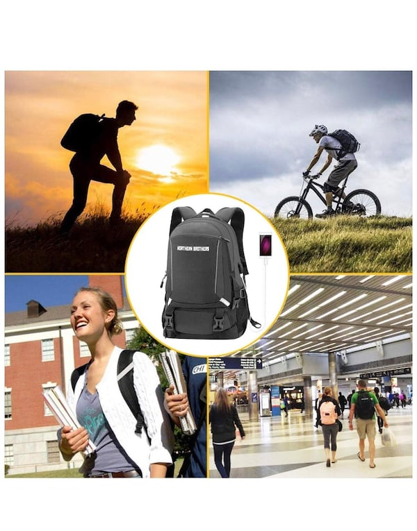 NEW- Laptop Backpack,Backpack for Men Hiking Backpack,Anti-Theft Waterproof School Bookbag Backpack a0d0fe7c-e7ae-47fc-8439-eb19187fcfcd
