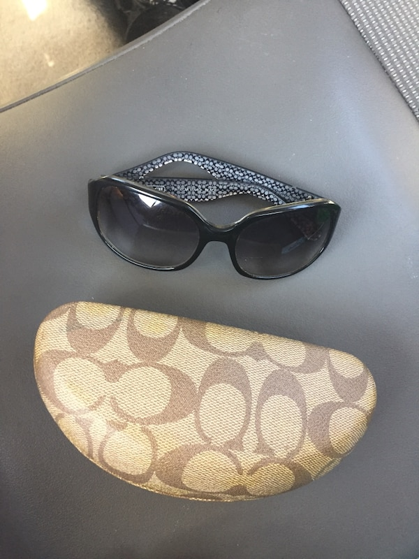 2c4ea3feb821 Used black Coach oversized sunglasses with case for sale in ...