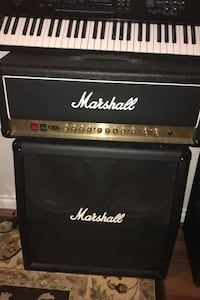 Two Marshalls for sale one is DSL 100 tube head  with 4x12 cabinet p