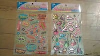 two assorted color stickers plastic packs Windsor, N8X 1Y6