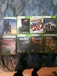 assorted Xbox 360 game cases 3158 km