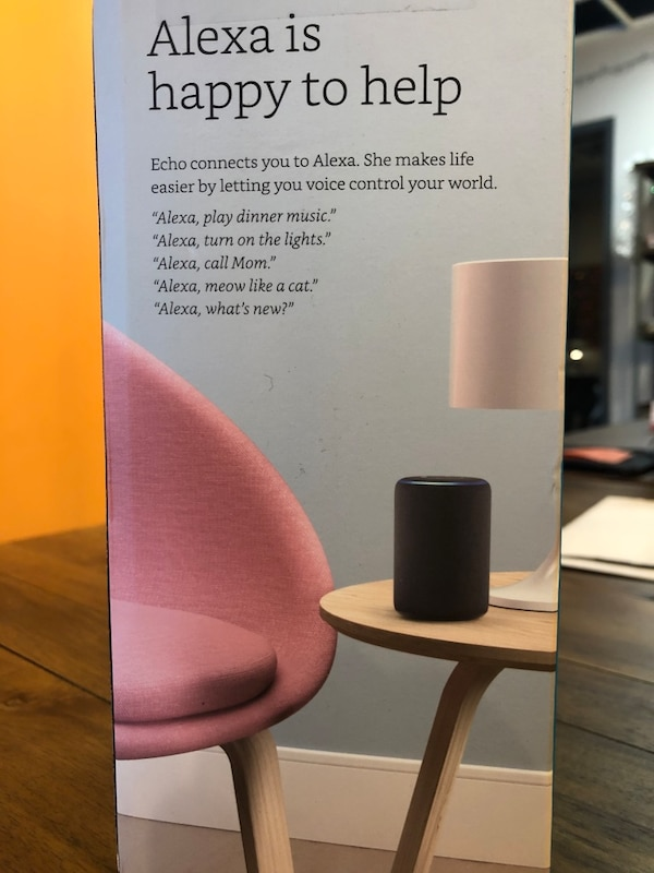 Amazon Echo (brand new/unopened) 471304b4-311d-485d-87ec-aaaefe6c1b2f