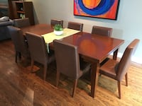 Large wood dining table **must be picked up by Monday before noon**