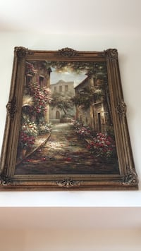 Colorful Painting With Gold Wooden Frame Centreville