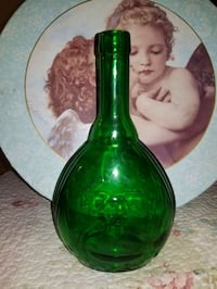 Vintage Empire glass works green bottle