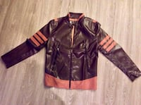 The New Men 's PU Leather Personality Motorcycle Jacket