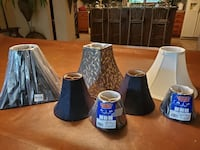 7 NEW lamp shades! Will sell separately - See description for prices!