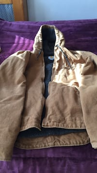 Brown full zip hoodie