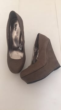 """Mossimo Shoes Wedge High Heels Brown/Grey Size 5-1/2"""" Palmdale, 93552"""
