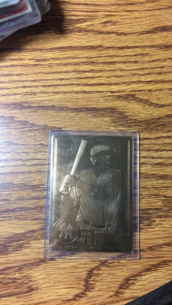 22kt gold sealed babe ruth card
