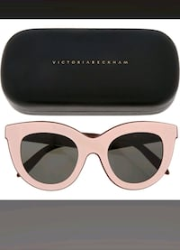 VICTORIA BECKHAM  Pink & Chestnut Layered Cat Eye  6261 km