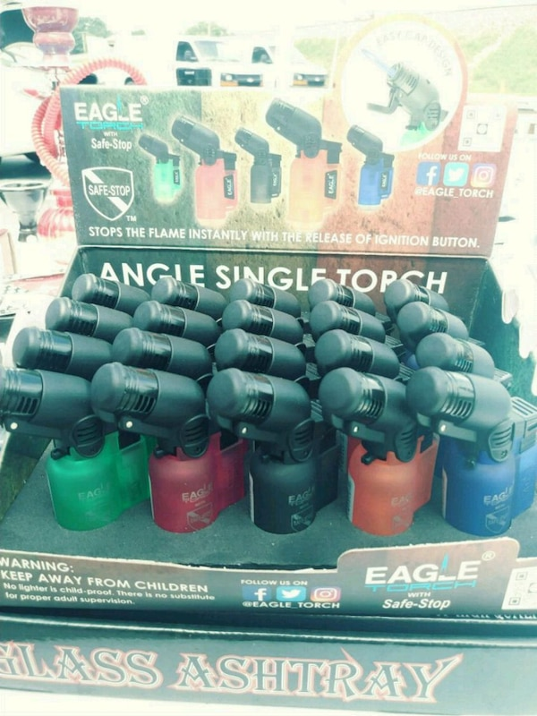 assorted-color Eagle Torch angle single torch lot