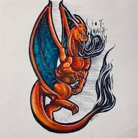 Hand-Drawn Charizard Lancaster, 93534
