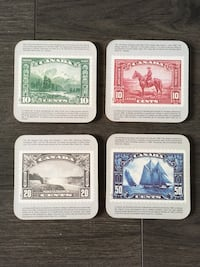 Coasters Canadian Stamps Toronto, M8W 3V8