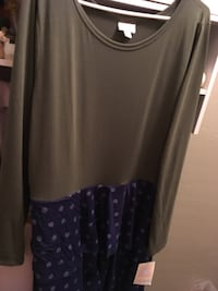 Georgia LuLaRoe 3XL new with tags. Olive green top with  polka dot bottom. $50 obo Glendale, 85301