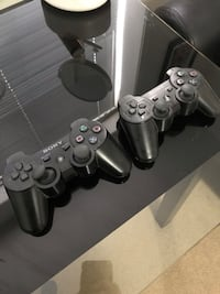 PS3 Slim 500 GB with 3 controllers and games