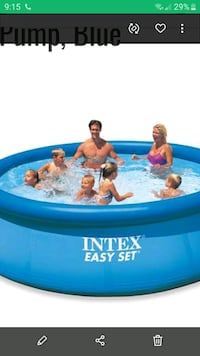 BRAND NEW Intex 12 x 2.5 Foot Easy Set Inflatable with Filter Pump
