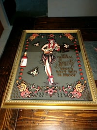 Sailor Jerry's Navy Spiced Rum promotional bar mirror. Woodhaven, 48183