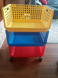 red, blue, and yellow plastic toy organizer 538 km