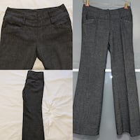 Dark Grey small checkered dress pants size 2 to 4 hardly worn