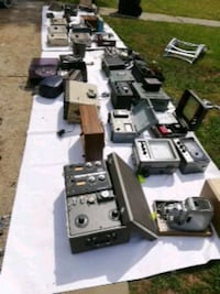 Various vintage electronics