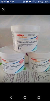 Medicated cooling pads Schenectady, 12303