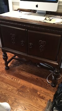 Brown wooden buffet