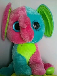 blue, pink, and green elephant plush toy Toronto, M8Z 4R8
