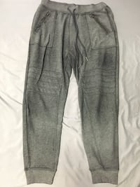 Gray and black sweat pants null