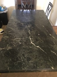 Green marble table fs or ft