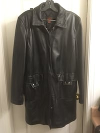 Danier black leather coat Surrey, V4N 0Y7