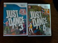 Just dance 3 and 4 for wii Worcester, 01605