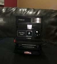 black polaroid oen step flash instant camera Boston, 02136