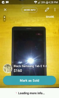 black Samsung Galaxy Tab E screenshot Winnipeg, R2K 3G4