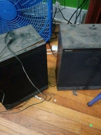 black flat screen computer monitor and black computer tower Mechanicsburg, 43044