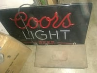 black and red Coors Light beer neon signage Shreve, 44676